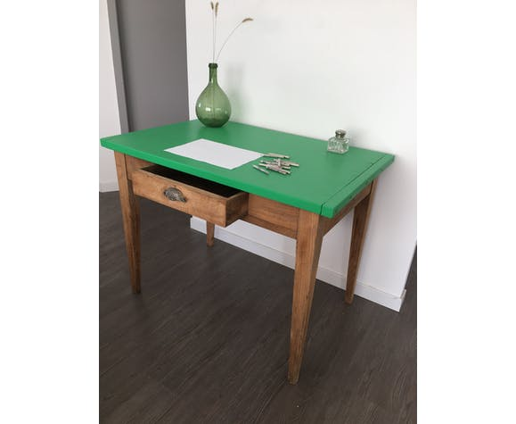Table de campagne verte | Selency