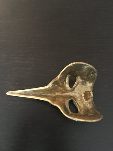 Press paper mask Venetian brass