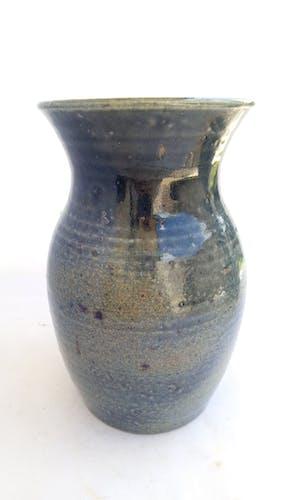 Vase en grès bleu de Bodin, La Borne, Puisaye