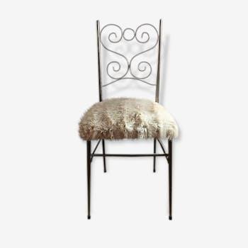 """Chaise """"moumoute"""" 60's"""