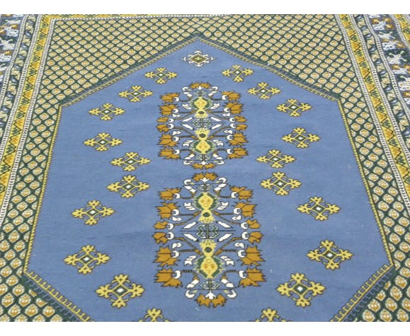 Vintage Handknotted Rug Traditional Wool Area Rugs 140x222cm Selency