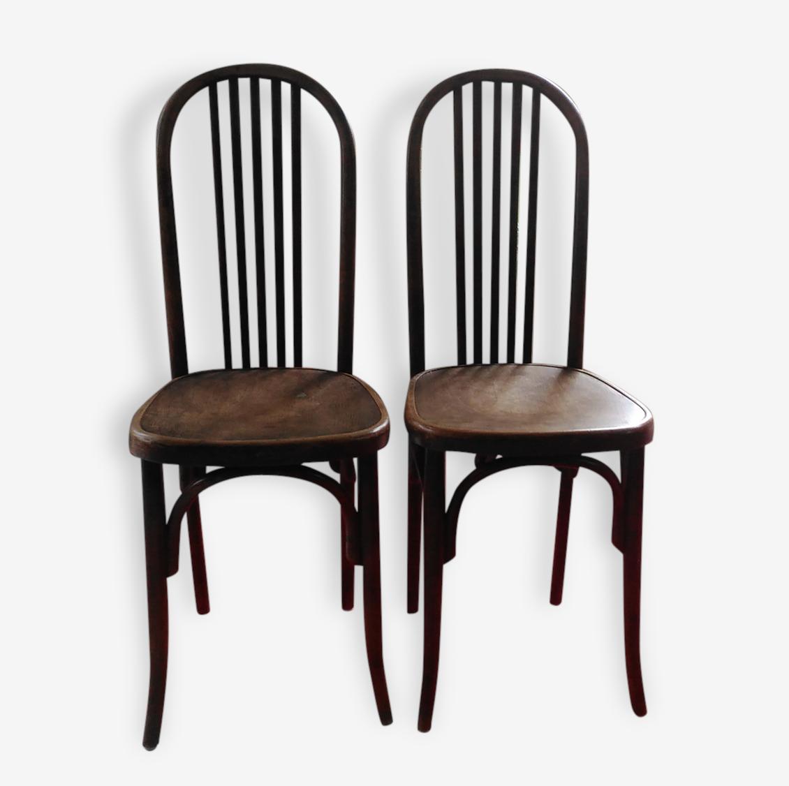 Paire de chaises bistrot Fischel