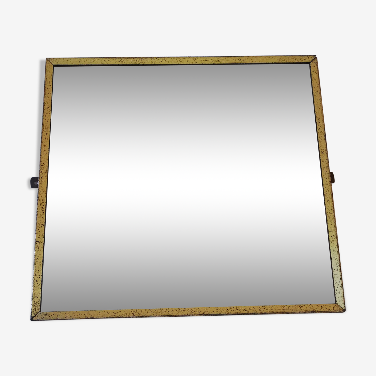 Golden mirror 32x30cm