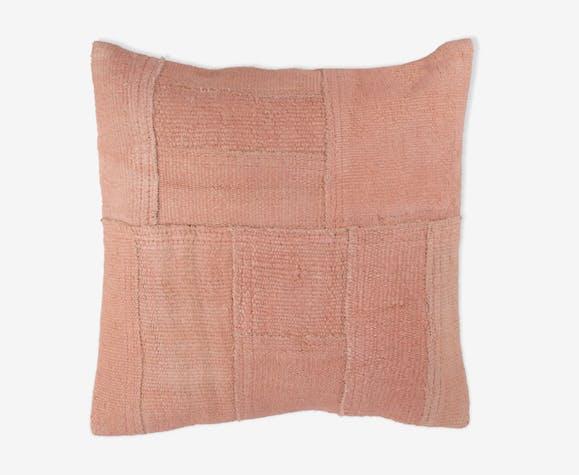 Housse de coussin patchwork en chanvre 50 x 50 cm