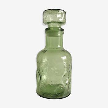 Bottle green carafe glass big Cap