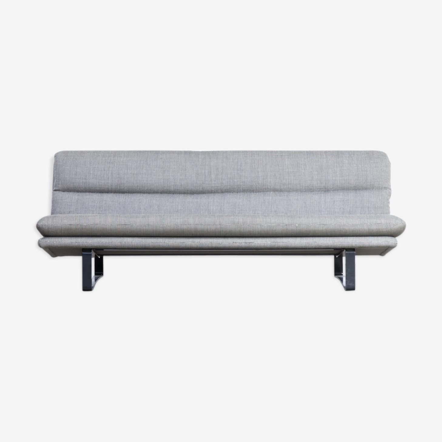 Kho Liang Ie C684 grey fabric three seat sofa for Artifort