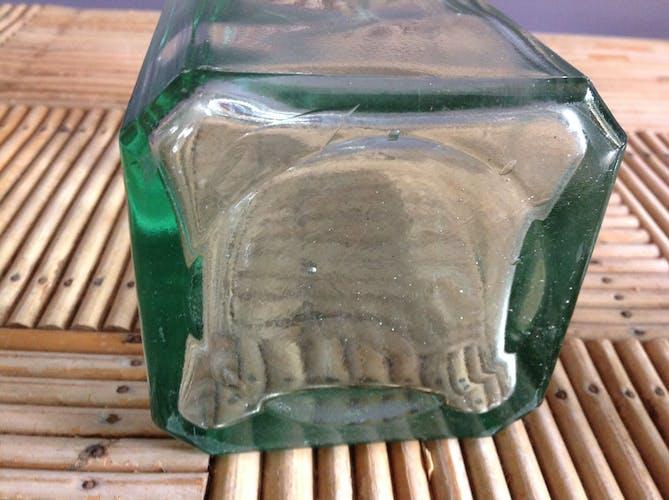 Green glass carafe