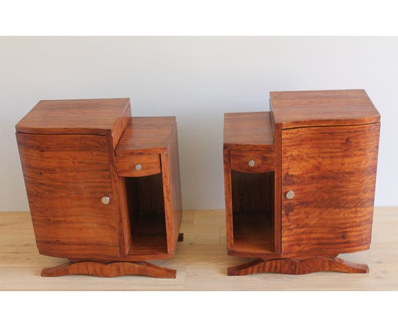 Pair of art deco bedsides