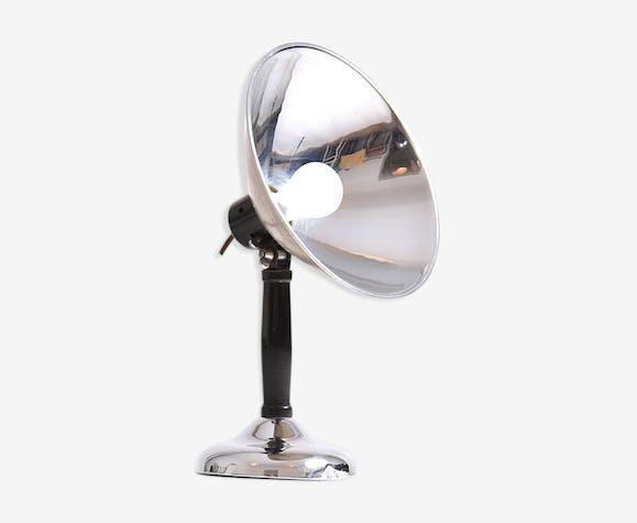 Lampe de table en chrome et métal, Tchécoslovaquie des années 1930