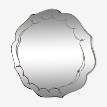 Mirror art deco years 30 / 40-58 x 58 cm