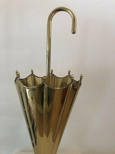 Porte parapluie laiton design vintage chic années 70 forme parapluie