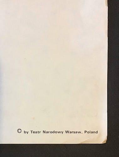 Polish theatre poster 1978