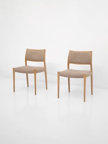 Chaises modèle 80 par Niels Otto Møller