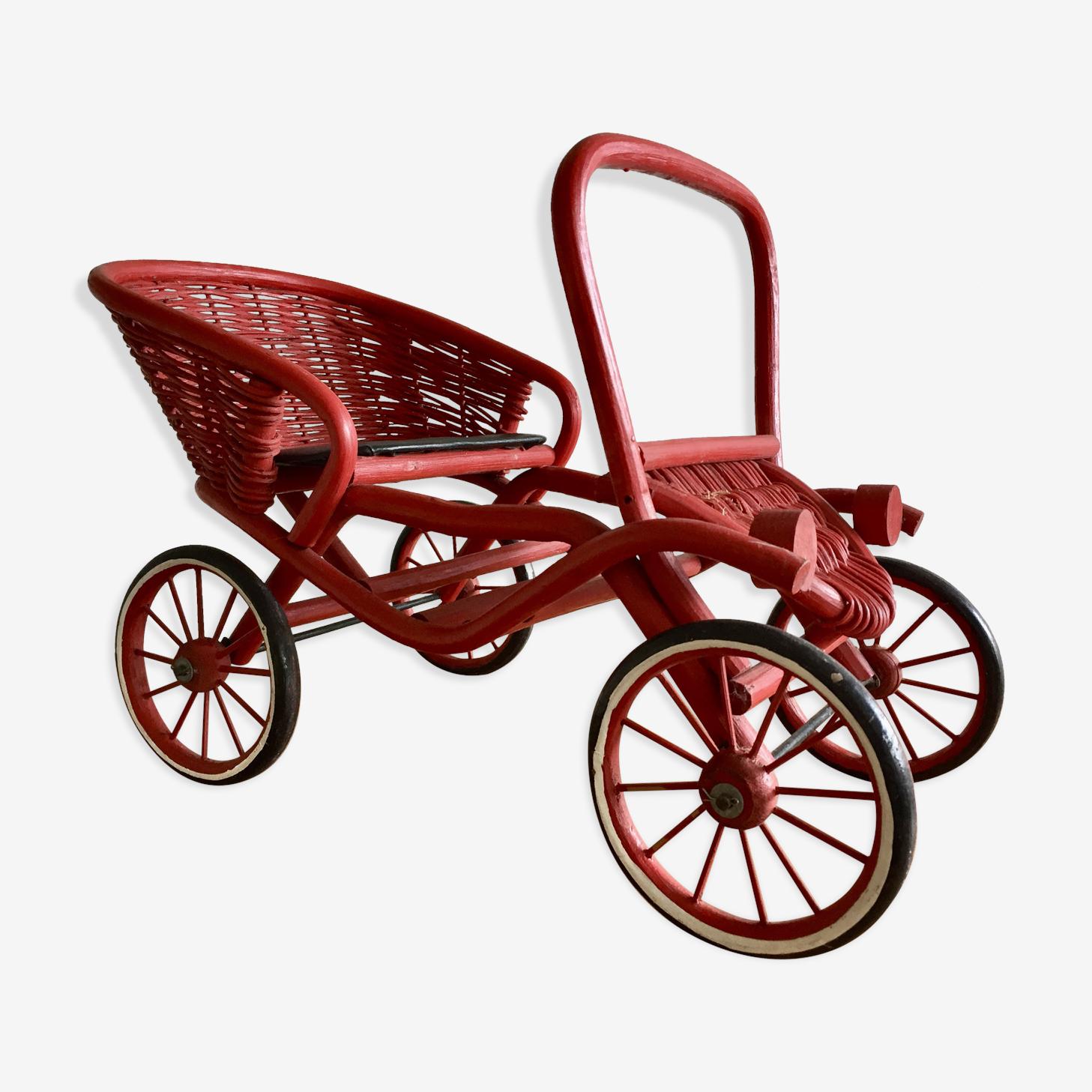 Classic rattan red car