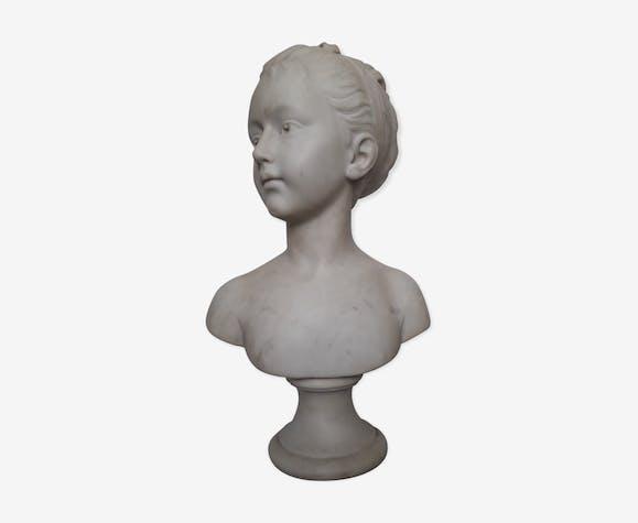 Buste de jeune fille Fin 19ème siècle d'après Houdon