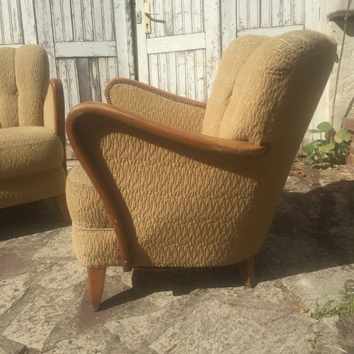 Paire de fauteuils années 30