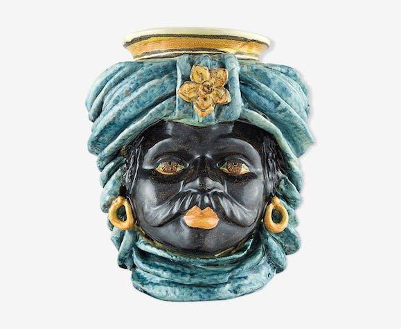 Vase turban bleu ciel homme