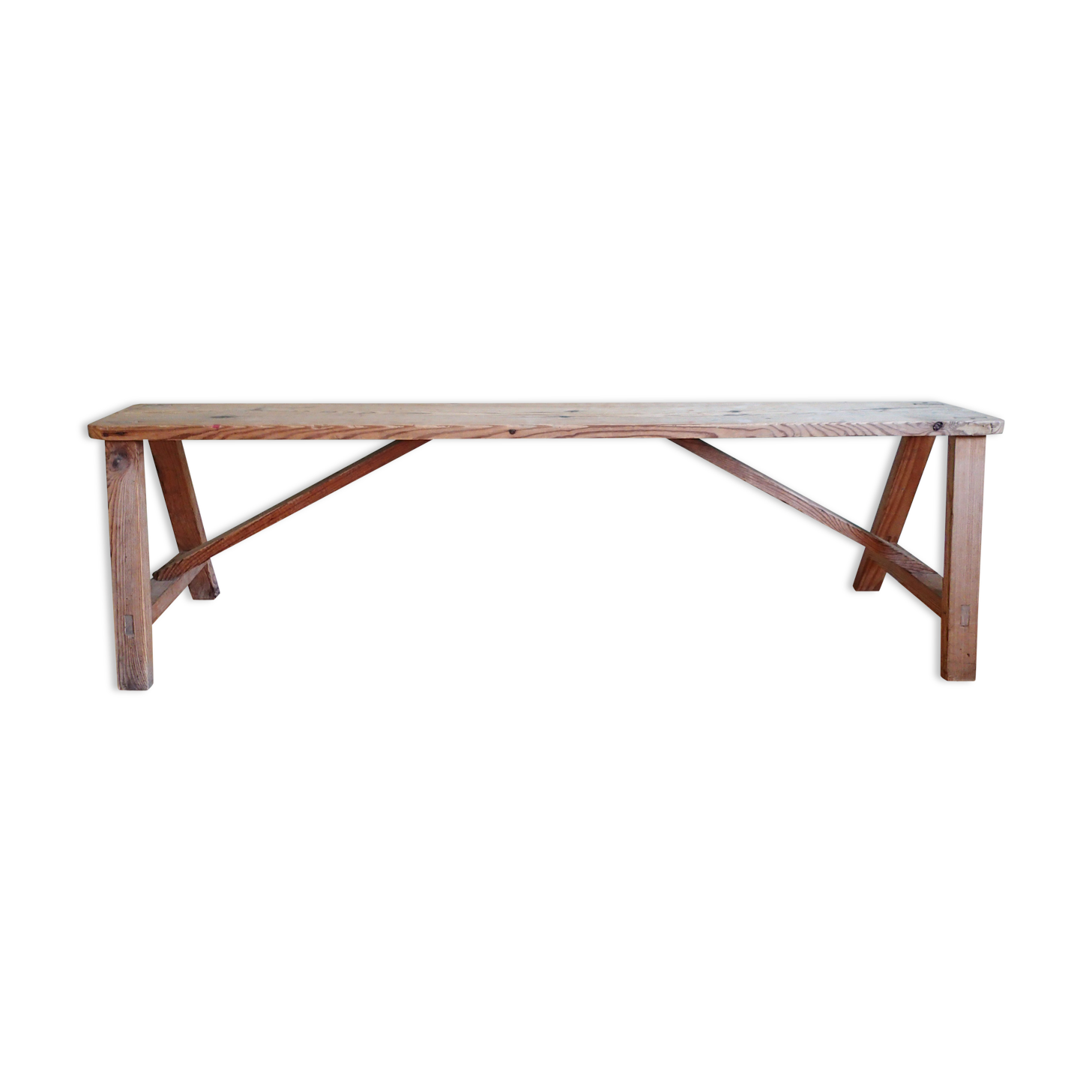 Old Wooden Farm Or School Bench