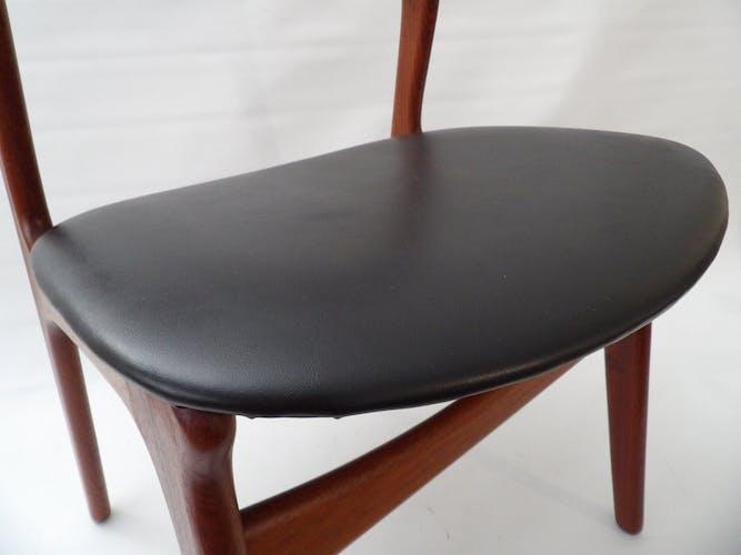 Set de 6 chaises danoise modele 310 d'Erik Buck, 1960