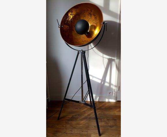 lampe rétro cinéma chicago - métal - noir - industriel - 131294