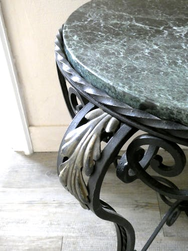Healing Art Deco, green marble