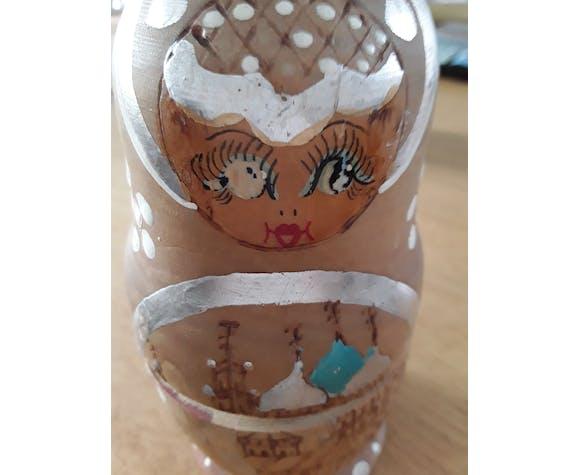 Russian doll in solid wood matriochka