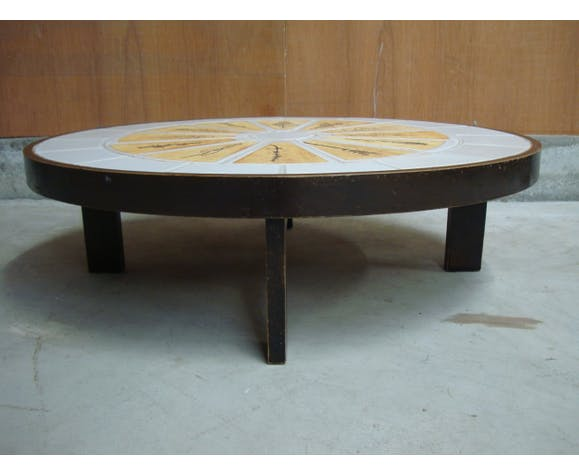 Table basse ovale Roger Capron