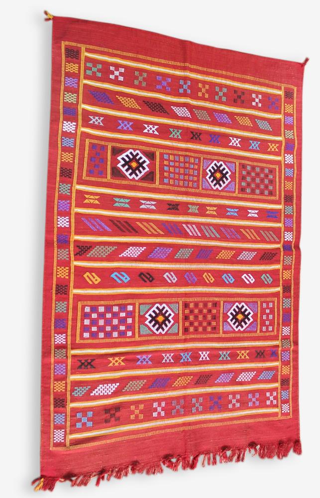 Azougagh / kilim berbère / tapis sabra / amazigh tribal / 150 x 100 cm