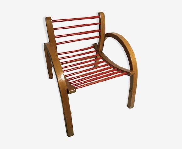 fauteuil en bois ancien enfant ann es 70 bois mat riau. Black Bedroom Furniture Sets. Home Design Ideas