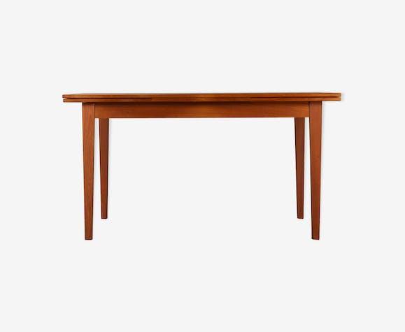 Table en teck danois extensible au milieu du siècle des années 1960