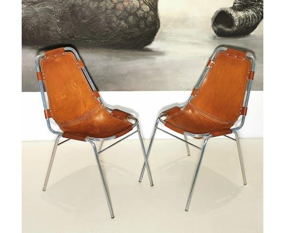 Lot de 6 chaises Les Arcs en cuir