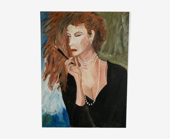 Portrait peinture sur toile