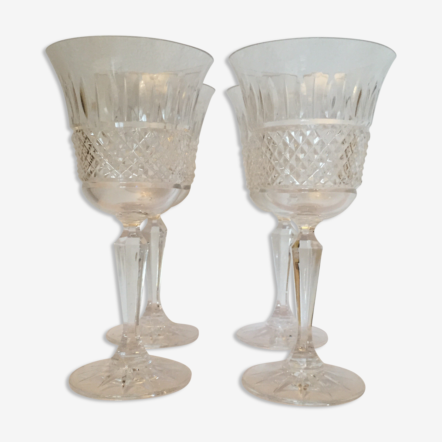 Ensemble de 4 verres en cristal