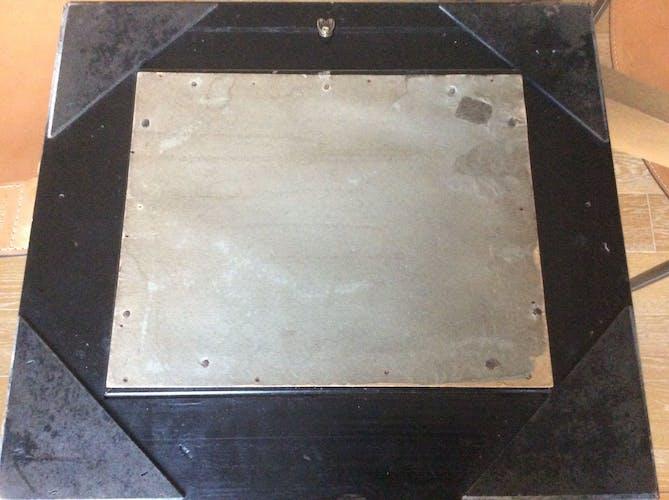 Tableau cadre doré et noir
