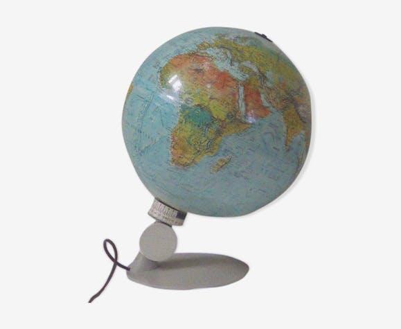Mappemonde lumineuse Scan Globe Danemark vintage 1972