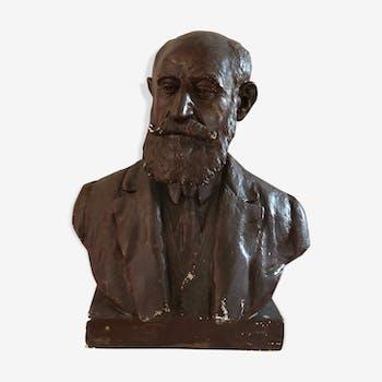 Buste en plâtre d'André Lavaysse