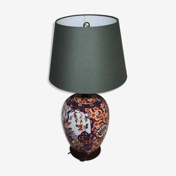 Ancienne lampe en porcelaine Imari Japon XIX ème