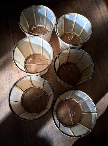 Abats-jour vintage en vessie de porc pour lustre hollandais