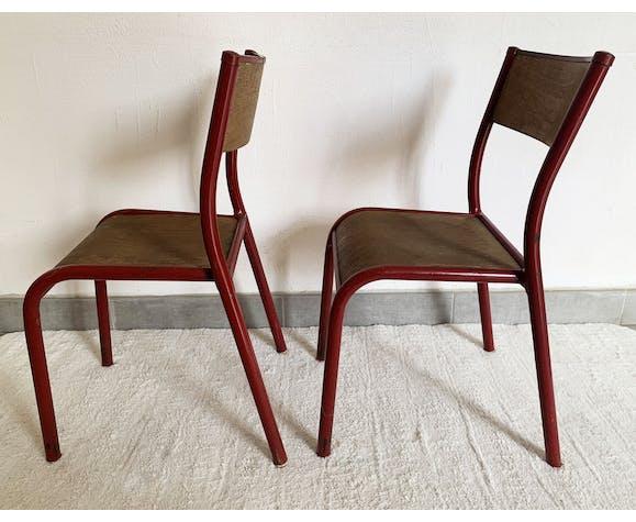 Paire de 2 chaises vintage Mullca des années 50/60 modèle enfant