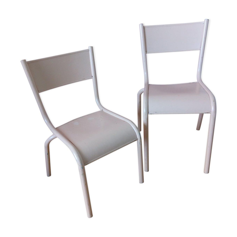 Chaise D École Mullca paire de chaises d'école mullca 510 modèle enfant en métal et bois
