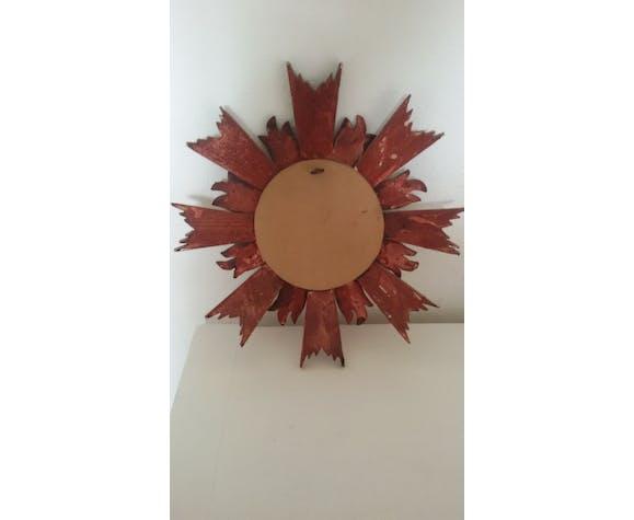 Miroir bombé soleil années 60-70 23cm