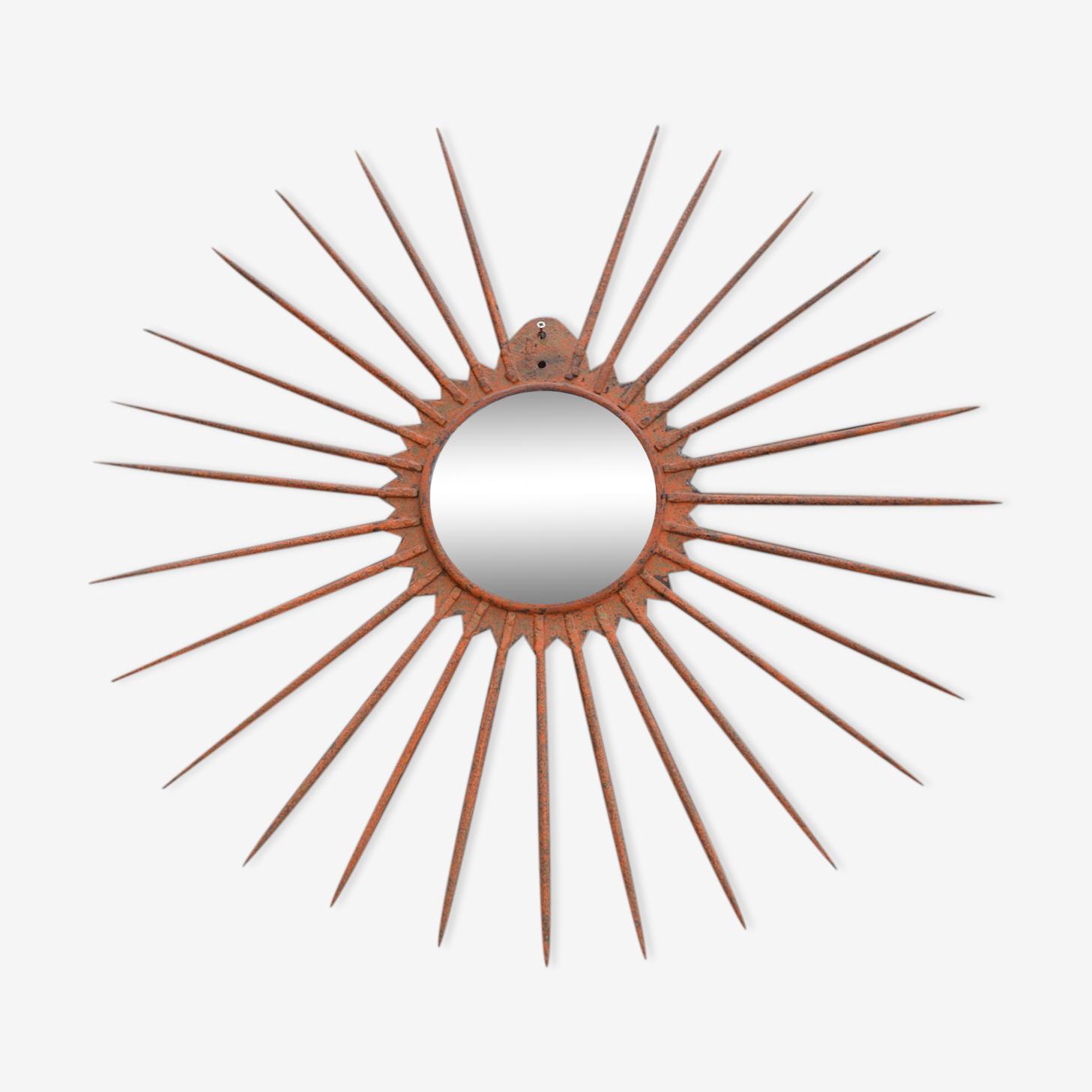 Miroir soleil en fer diamètre 82cm