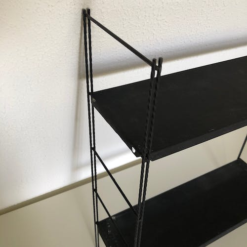Black shelf 60x49cm vintage 1960