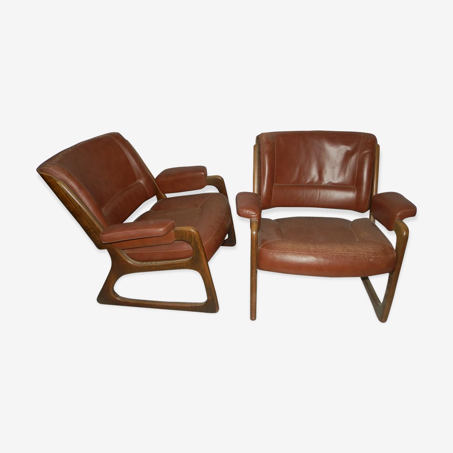 Paire de fauteuil baumann 1960 / 1970