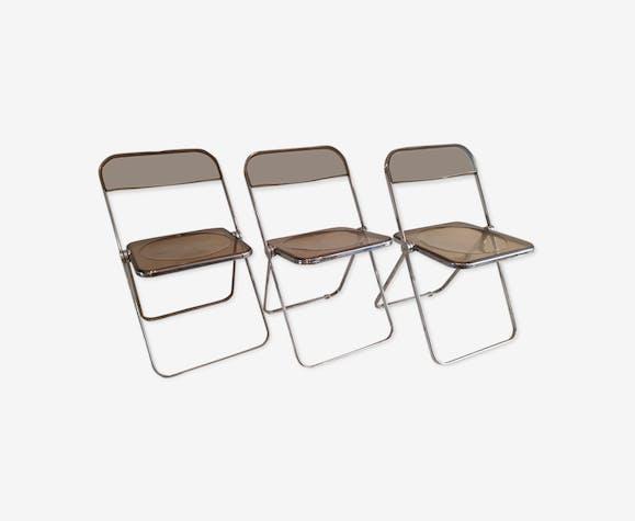 Suite de 3 chaises Plia Castelli