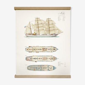 Displays representing the ship Nike