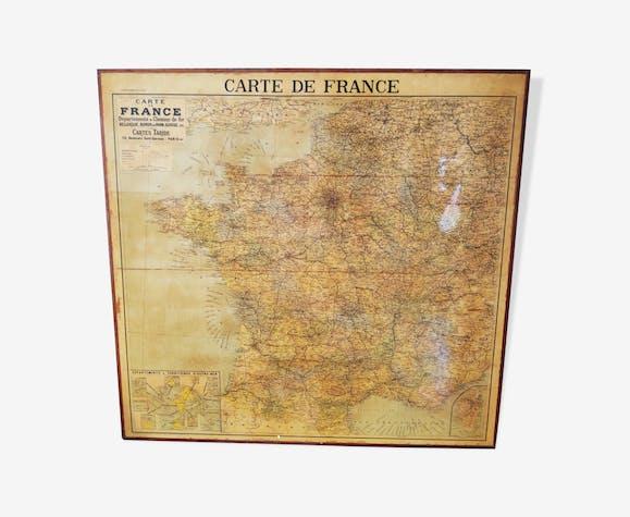 Map of France vintage Taride framed
