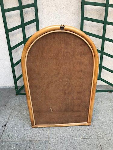 Miroir en rotin 40x65cm