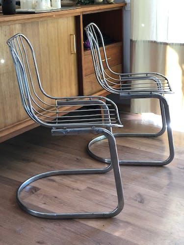 Chaises en métal par Gastone Rinaldi