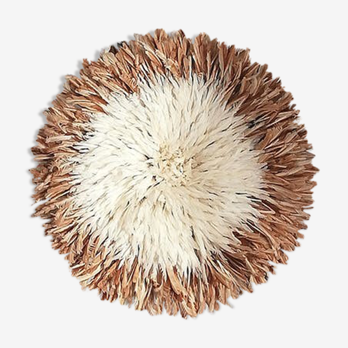 Authentic juju hat natural and white 60 / 65cm